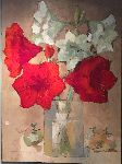 Ada Rawet Creations - Amaryllis rouges et blancs