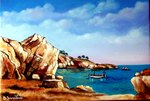Betty Savastano - Mouillage en Calanque