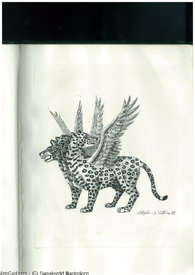 Oeuvre >> Surealworld Illustrations >> Vision Of The Leopard Quatre Bête