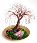 Sal Villano Wire Tree Sculpture - OAK LAITON TINY - Mini arbre sculpture métallique, par Sal Villano