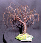 Sal Villano Wire Tree Sculpture - WILLOW rouillés - Mini arbre sculpture métallique