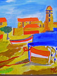 Marie Christine Legeay - COLLIOURE HARBOUR