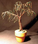 Sal Villano Wire Tree Sculpture - PARAPLUIE BONSAI - Mini arbre sculpture métallique