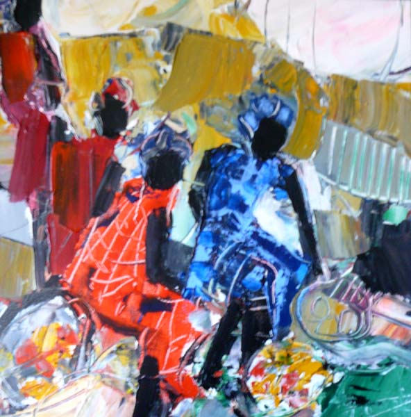 Oeuvre >> Jacques Donneaud >> Marché africain