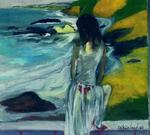 Harry Weisburd - Femme en robe Sheer By The Sea