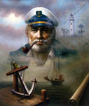 Yoo Choong Yeul Art - St. Simons Island Sea Captain 2