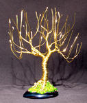 Sal Villano Wire Tree Sculpture - WILLOW UPRIGHT - Mini arbre sculpture métallique