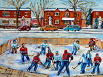 Oeuvre carole spandau van horne patinoire de hockey for Patinoire exterieur montreal