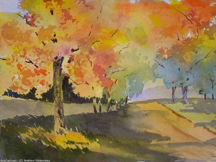 Oeuvre >> Annino's Watercolors >> jour d automne