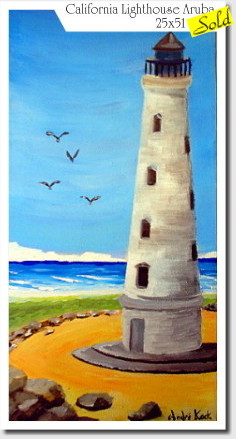 Oeuvre >> André Kock >> california lighthouse aruba
