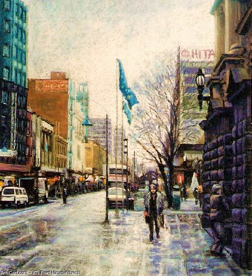 Oeuvre >> Fred Himmelsbach >> Swanston Rue , Melbourne