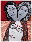 Mirit Ben-Nun - femmes visages artiste contemporain mirit Ben-Nun