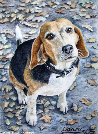 Oeuvre >> Arts And Dogs >> beagle nanni