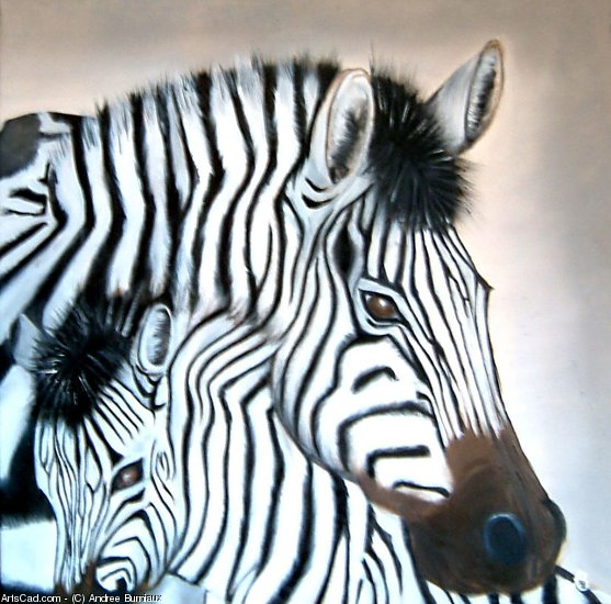 Oeuvre >> Andree Burniaux >> Zebre