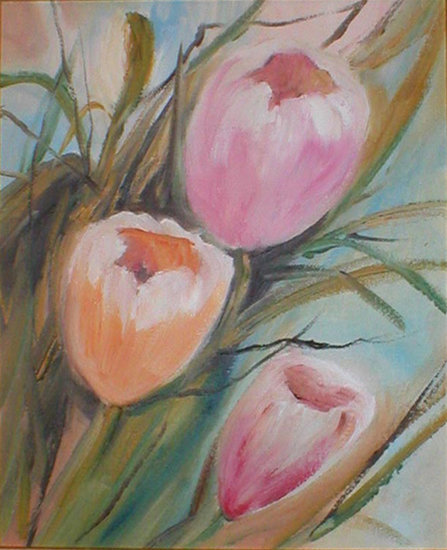 Oeuvre >> Cristina Benevides Legault >> Tulipes roses