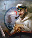 Yoo Choong Yeul Art - St. Simons Island Sea Captain 1