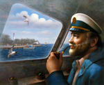 Yoo Choong Yeul Art - St. Simons Sea Island Captain 4