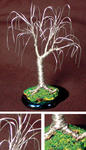 Sal Villano Wire Tree Sculpture - OAK BONSAI - Mini arbre sculpture métallique