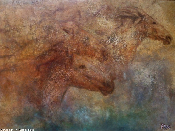 Oeuvre >> Beatrice Farge >> chevaux du sud