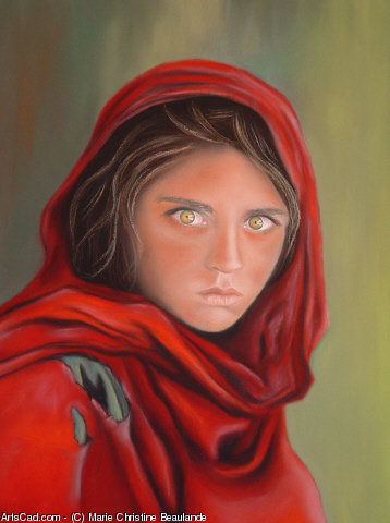 Oeuvre >> Marie Christine Beaulande >> L'AFGHANE AUX YEUX VERTS