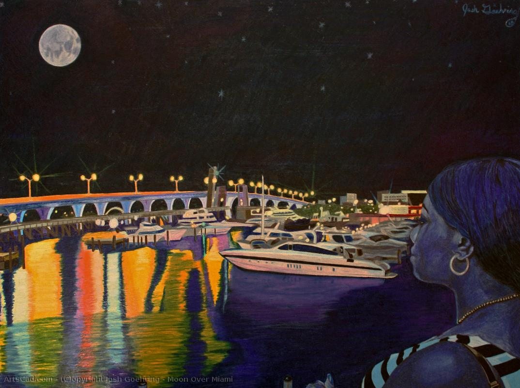 Art par Josh Goehring : Josh Goehring - moon over miami