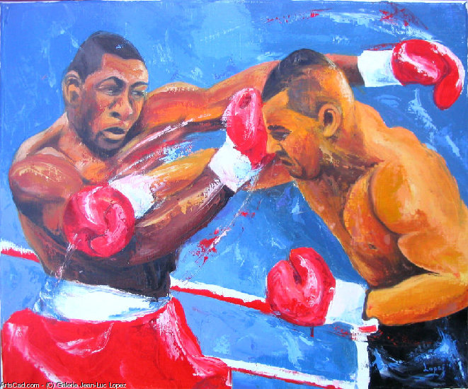 Oeuvre >> Galerie Jean-Luc Lopez >> Boxe