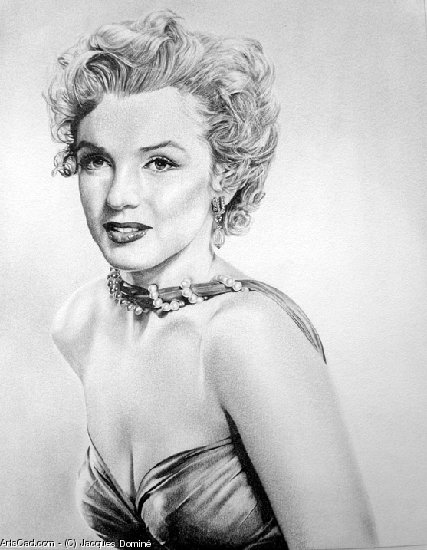 Oeuvre >> Jacques Dominé >> Marilyne Monroe 2
