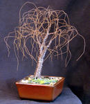 Sal Villano Wire Tree Sculpture - PETIT BONSAI ORME - arbre sculpture métallique
