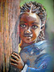 Inspirational Paintings - MALAWI fille qui