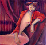 Carlos Cosme - chemise rouge