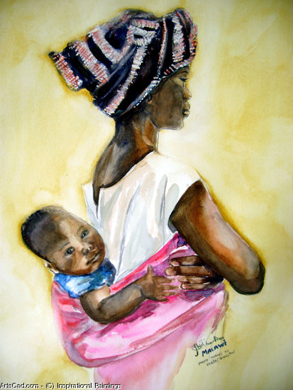 Oeuvre >> Inspirational Paintings >> MALAWI nourricière